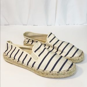 J Crew Canvas Espadrille Striped 11 Cruise